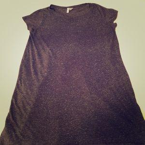 Gray dress tee